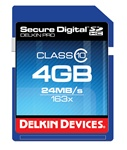 Delkin 4gb Secure Digital PRO3 163x SDHC Class 10